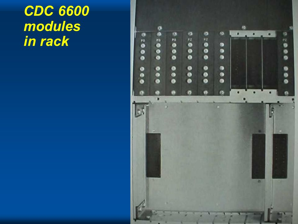 CDC 6600 modules in rack