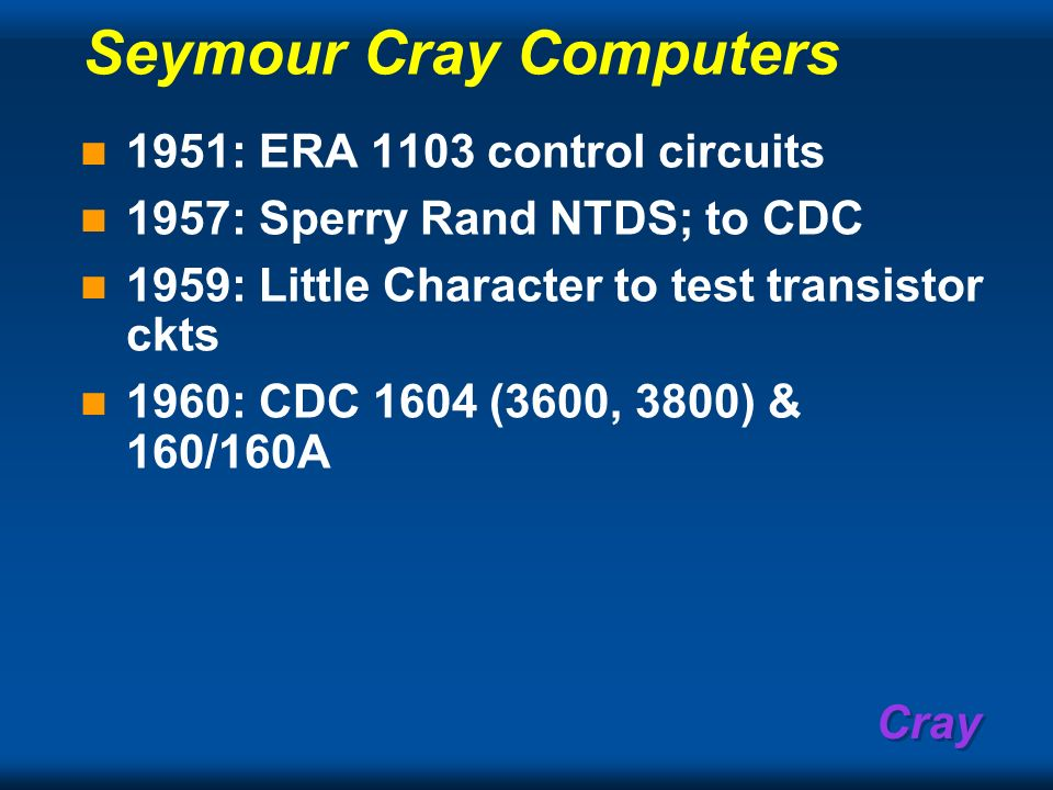 Seymour Cray Computers