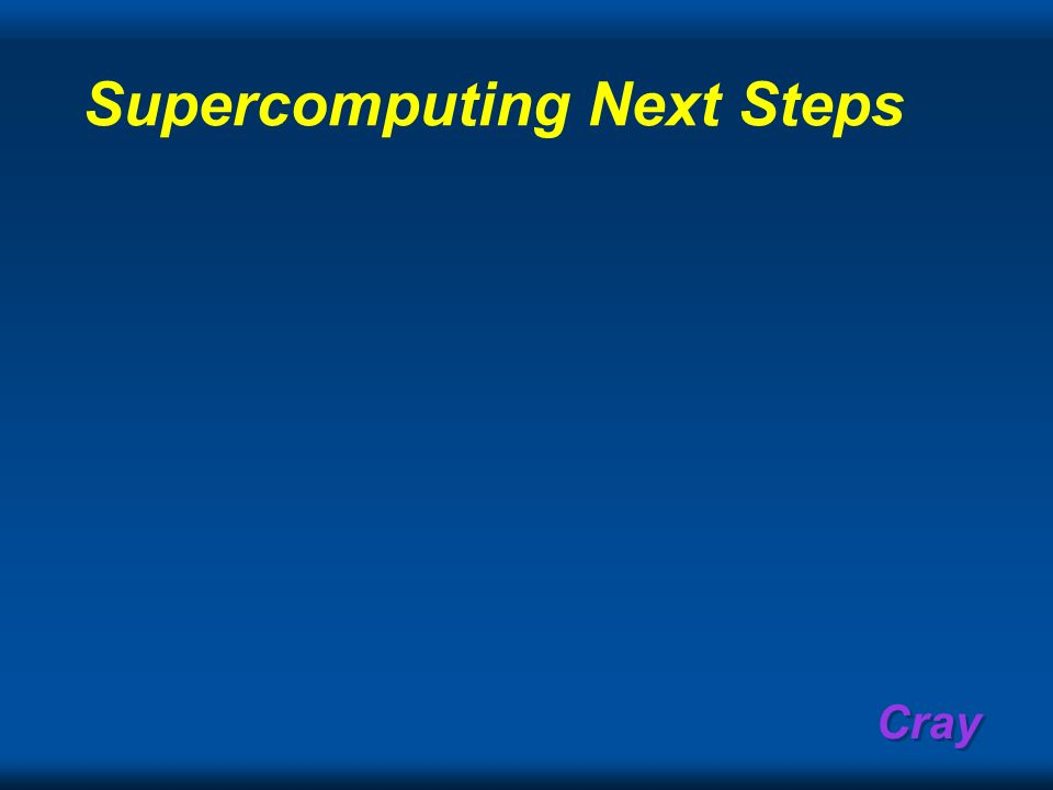 Supercomputing Next Steps