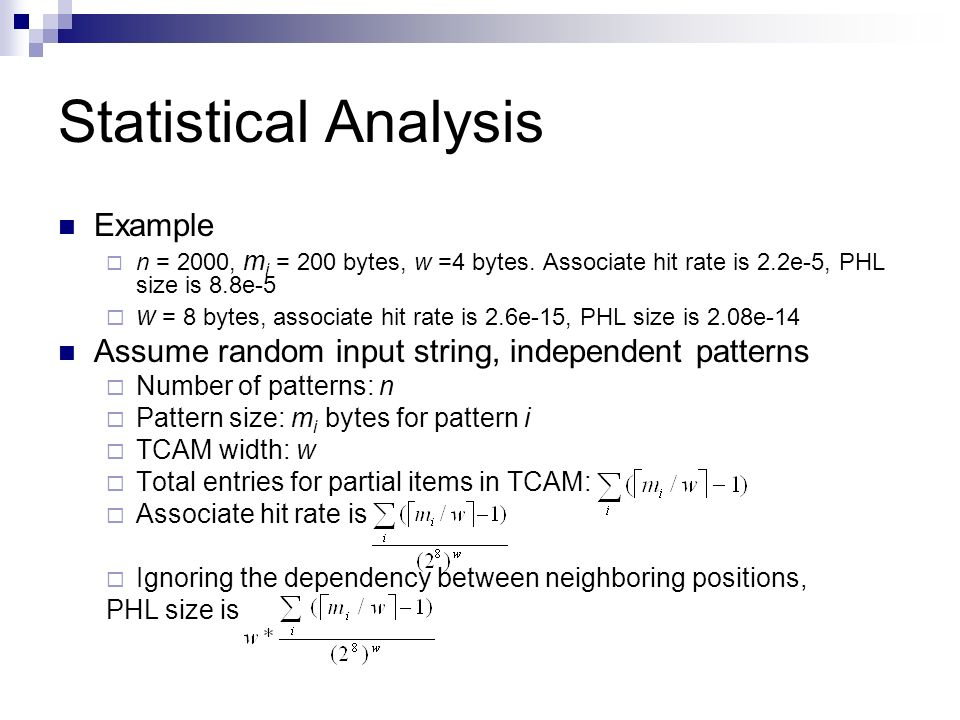 Statistical Analysis Example