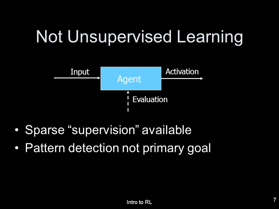 Not Unsupervised Learning