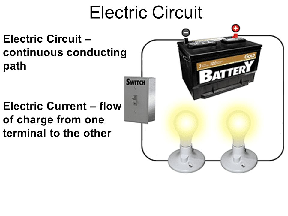 Electric Circuit Electric Circuit – continuous conducting path