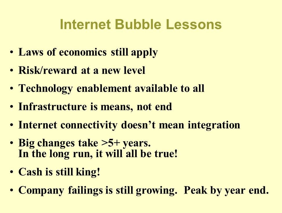 Internet Bubble Lessons
