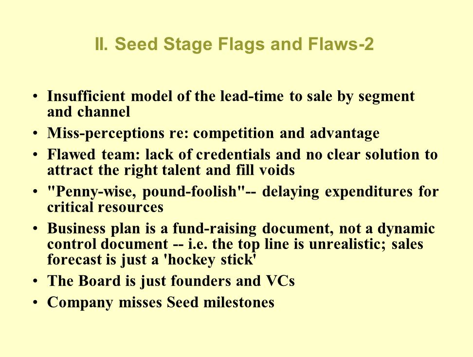 II. Seed Stage Flags and Flaws-2