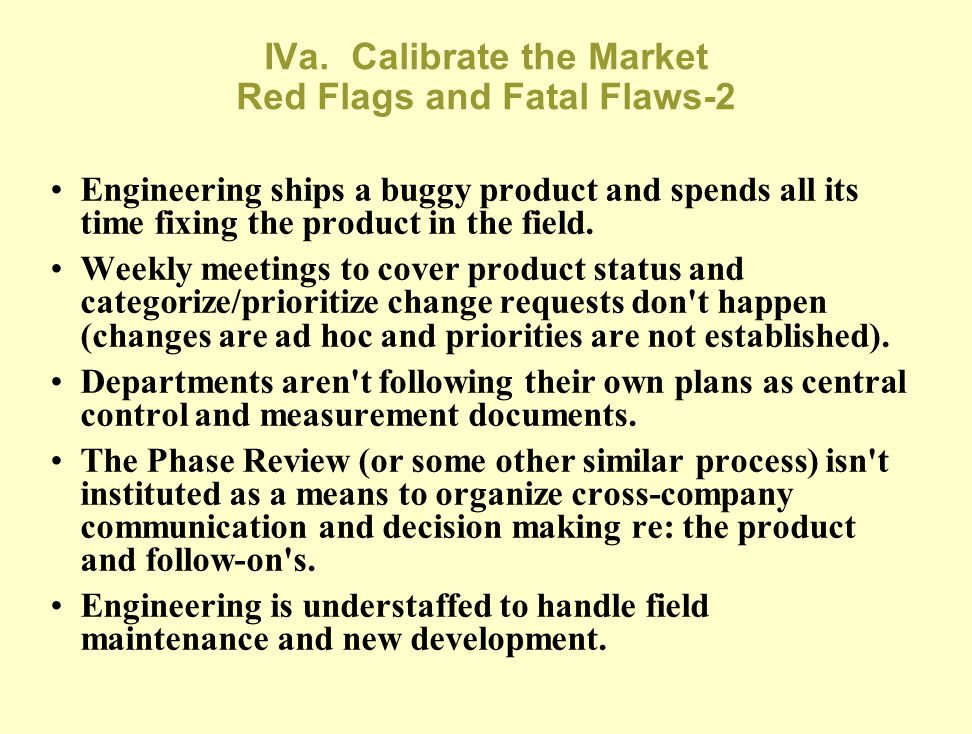 IVa. Calibrate the Market Red Flags and Fatal Flaws-2