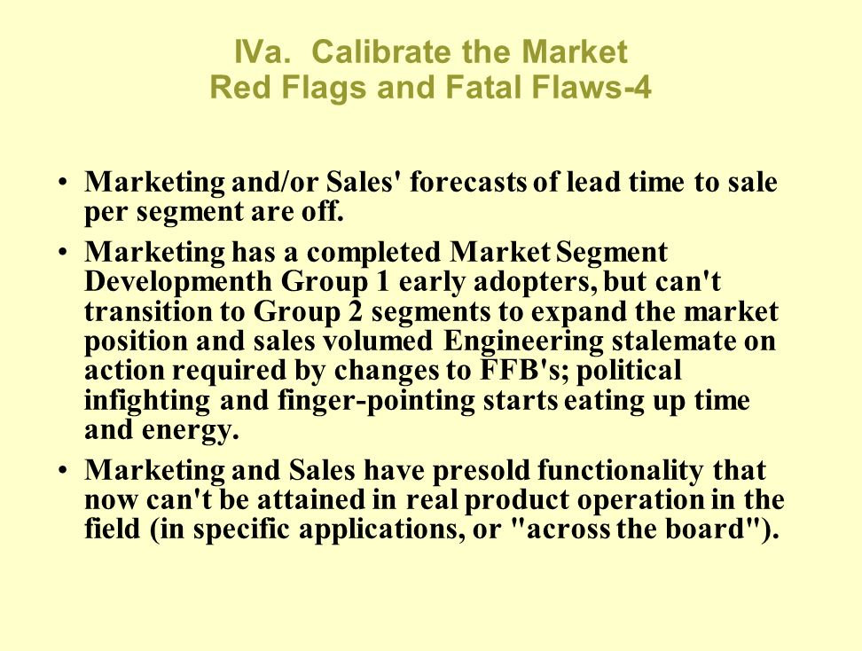 IVa. Calibrate the Market Red Flags and Fatal Flaws-4