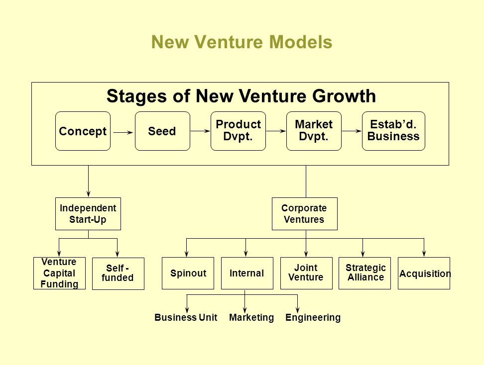 Stages of New Venture Growth
