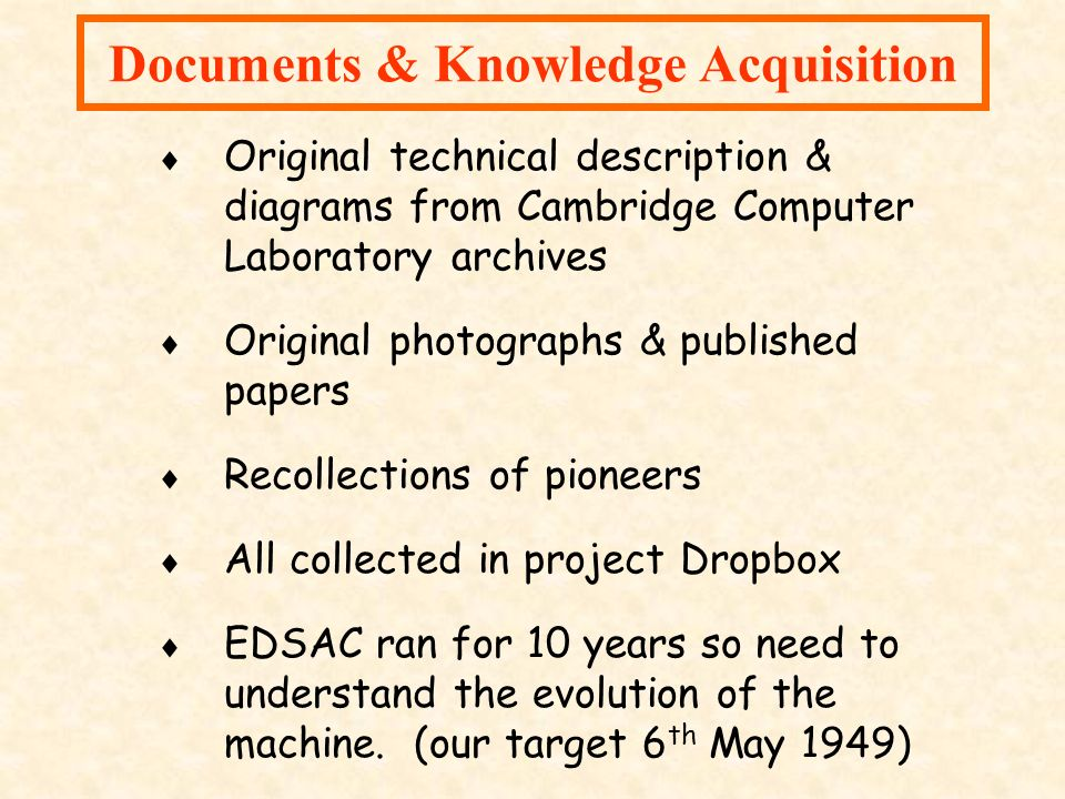 Documents & Knowledge Acquisition