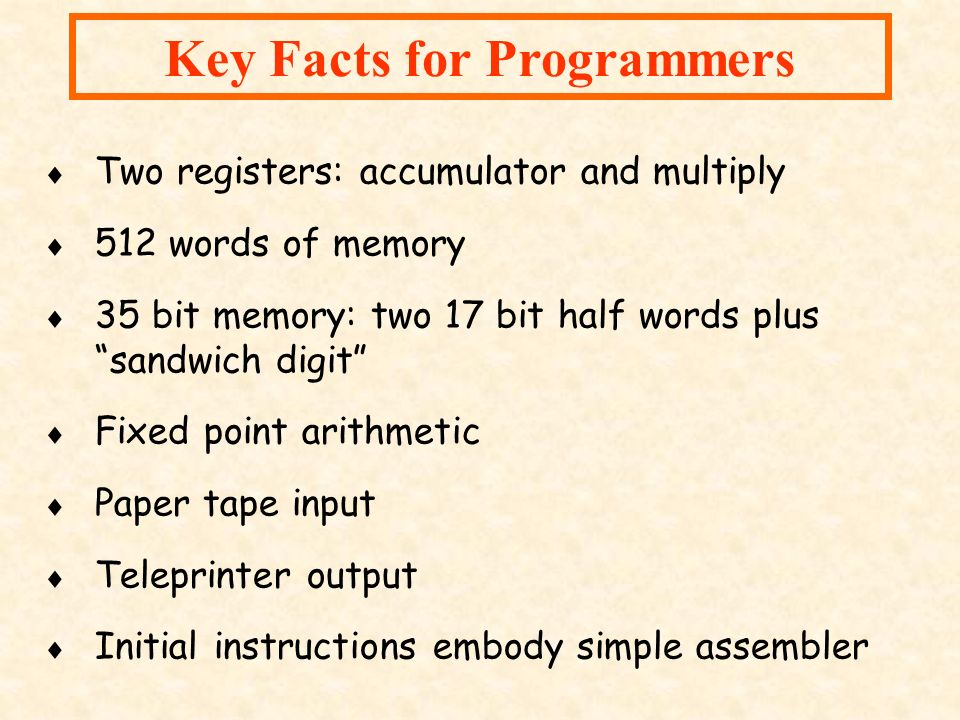 Key Facts for Programmers