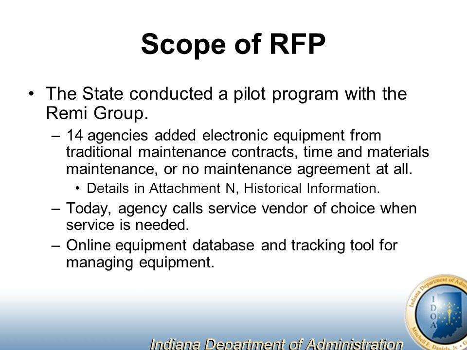 Equipment Maintenance Management Program Request for Proposal 9-36