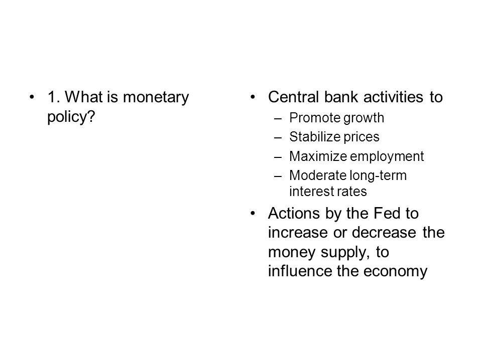 Activity 40 Monetary Policy Ppt Video Online Download