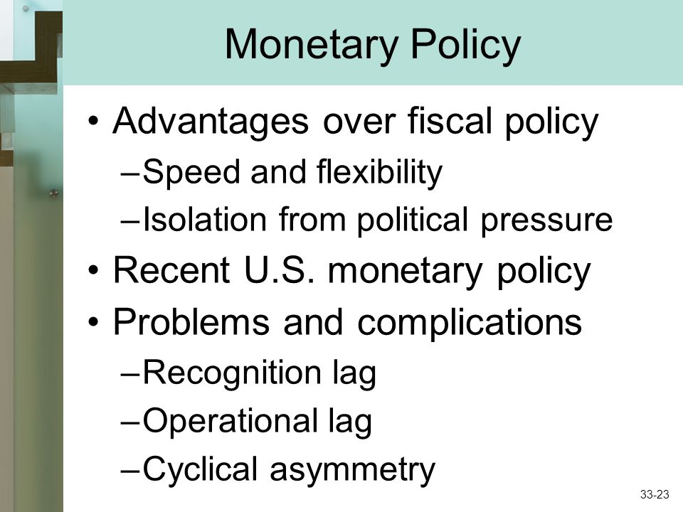 advantages of fiscal policy