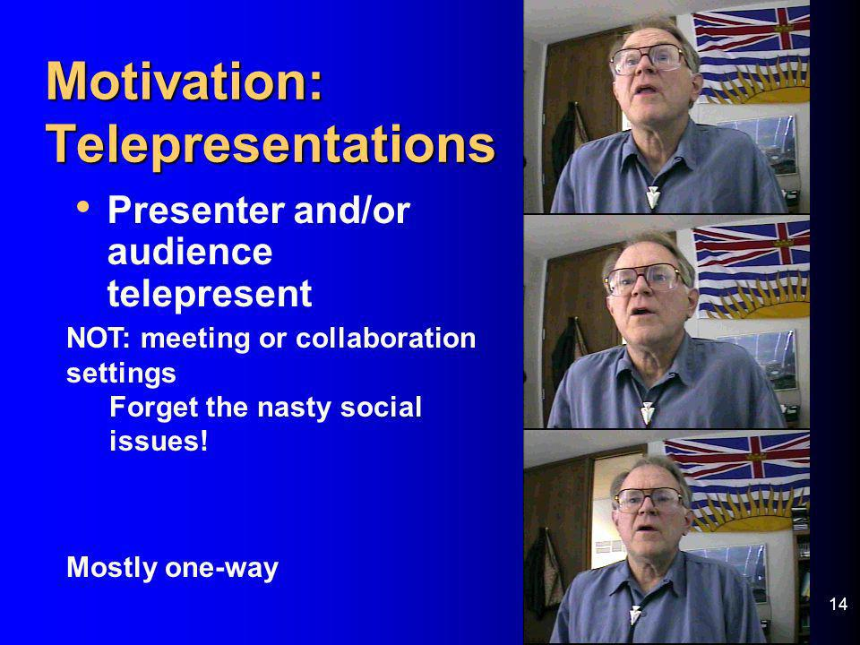 Motivation: Telepresentations