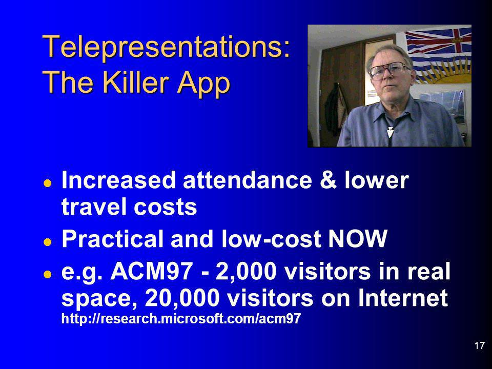 Telepresentations: The Killer App