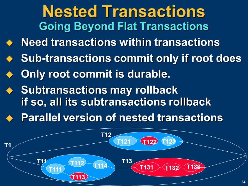 Nested Transactions Going Beyond Flat Transactions