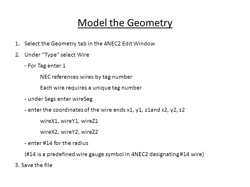 Antenna Modeling With 4NEC2 - ppt video online download