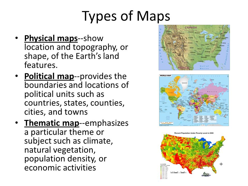 Good Types Of Maps Physical Maps  Show Location And Topography, Or Shape, Of