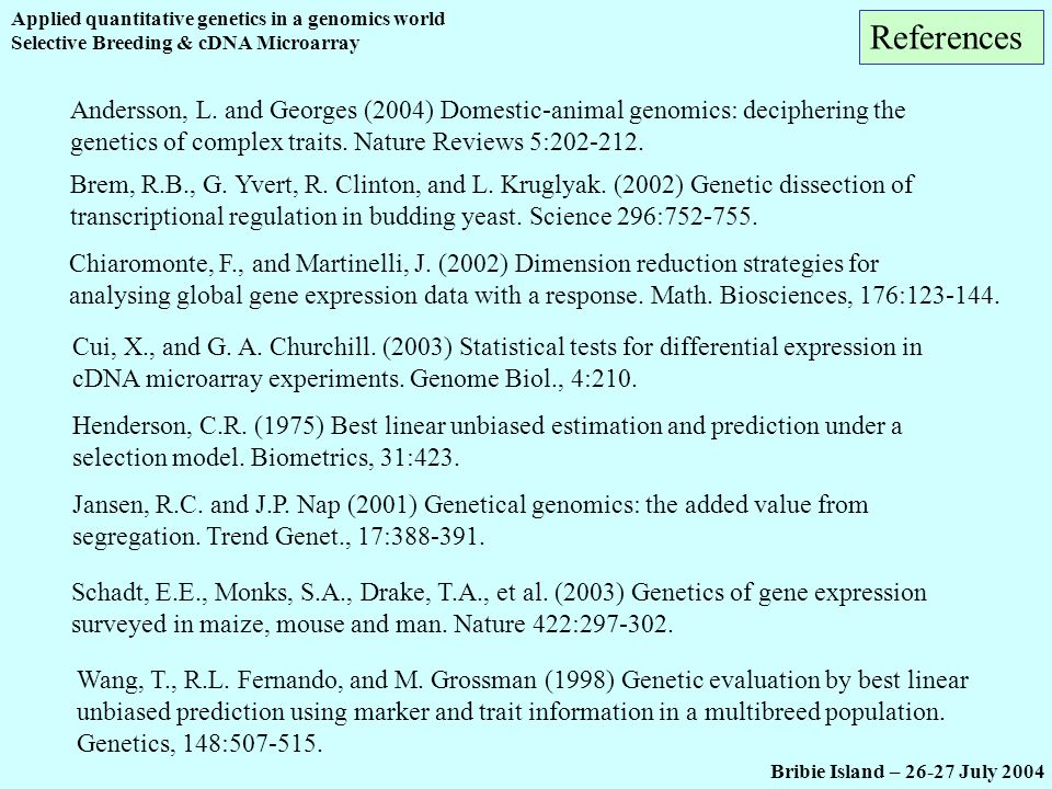 Applied quantitative genetics in a genomics world