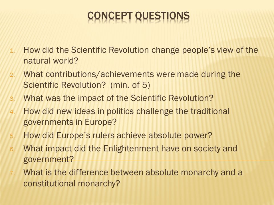 how did the scientific revolution impact european society