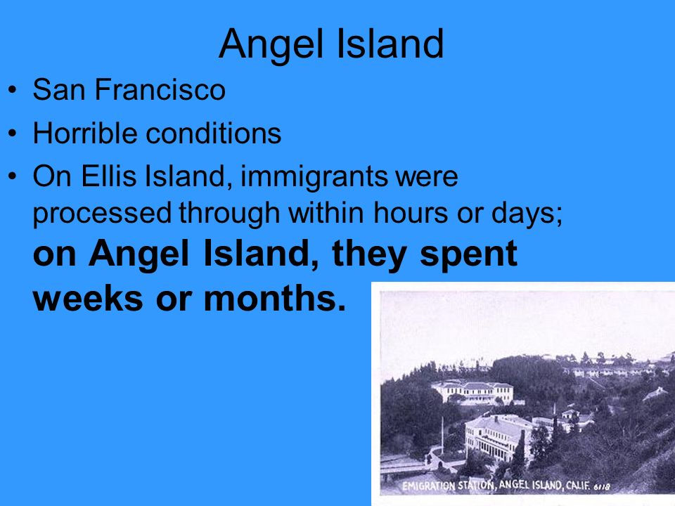 Angel Island San Francisco Horrible conditions