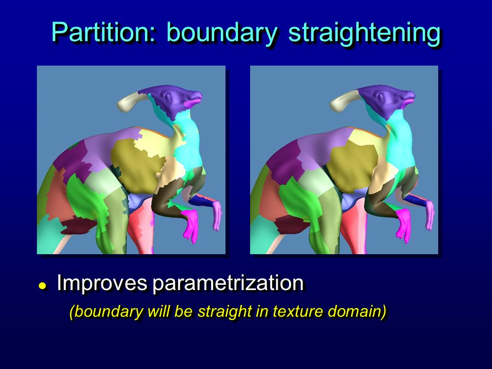 Partition: boundary straightening