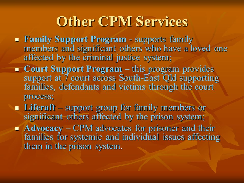 Other CPM Services