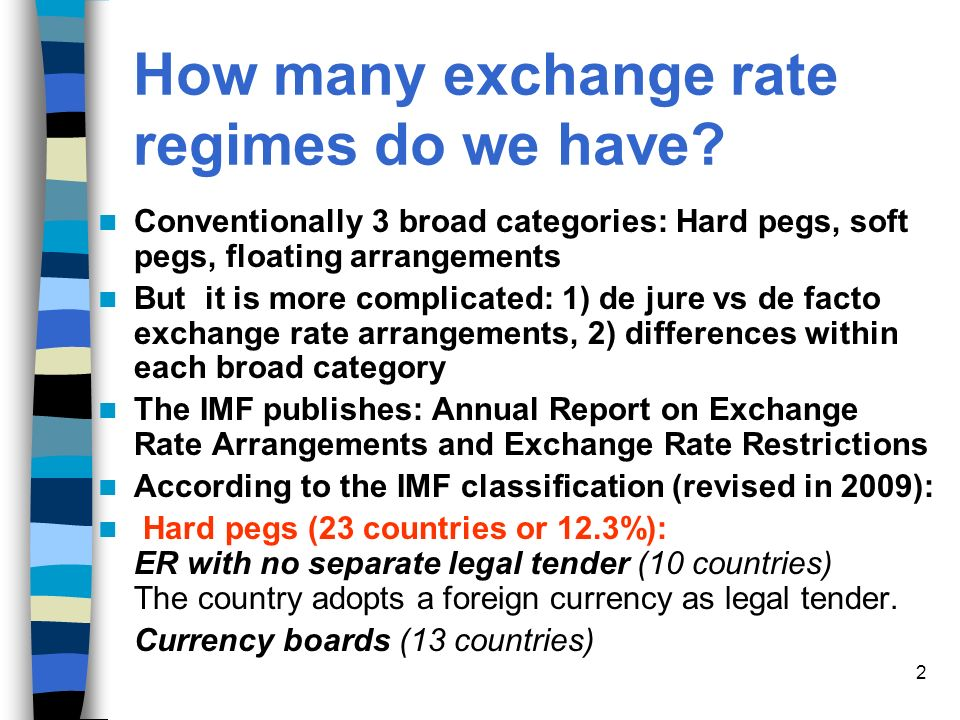 How Many Exchange Rate Regimes Do We Have