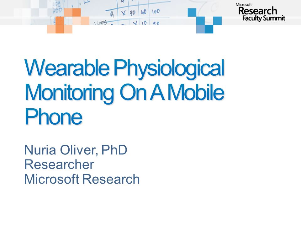 Wearable Physiological Monitoring On A Mobile Phone
