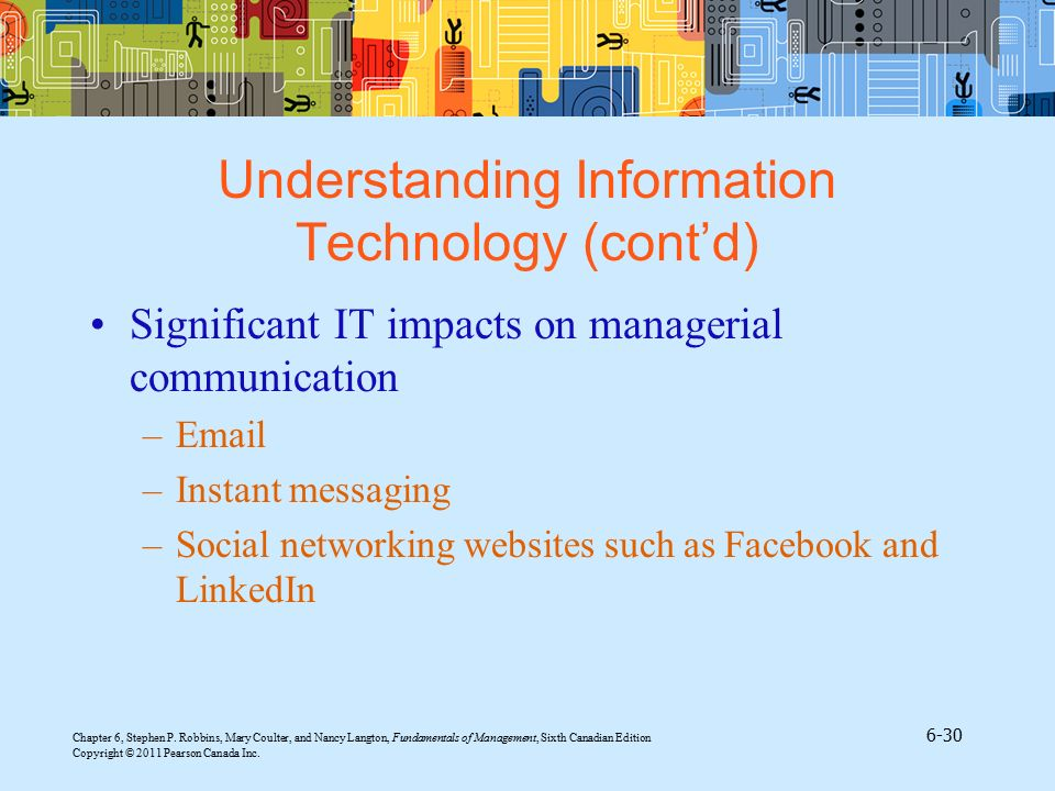 Understanding Information Technology (cont'd)