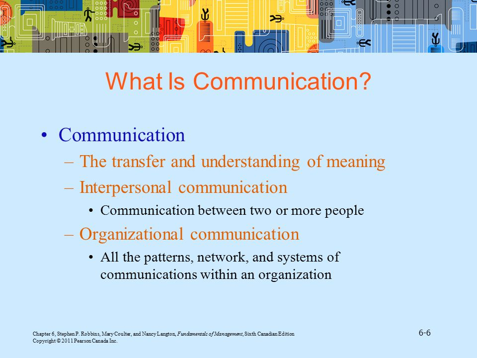 What Is Communication Communication