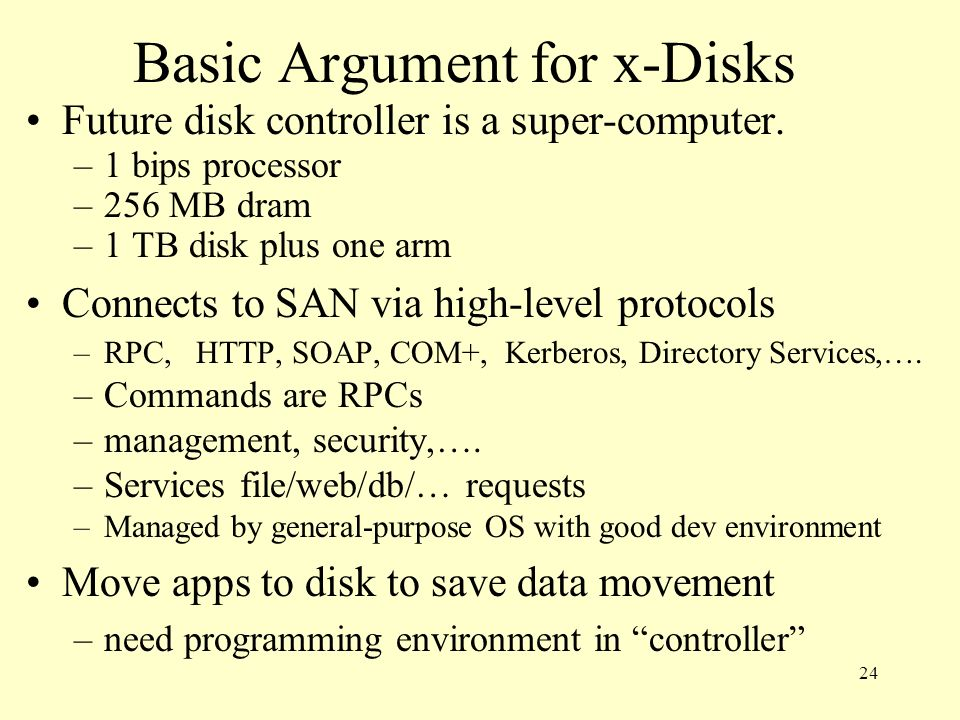 Basic Argument for x-Disks