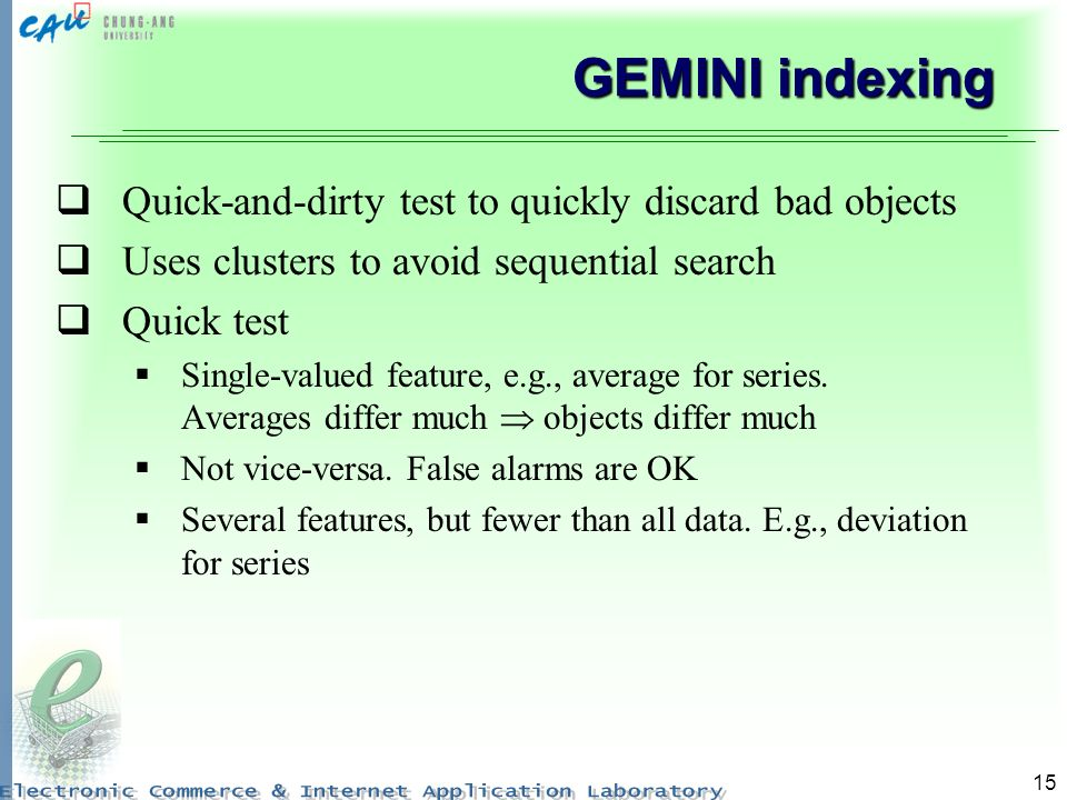 GEMINI indexing Quick-and-dirty test to quickly discard bad objects