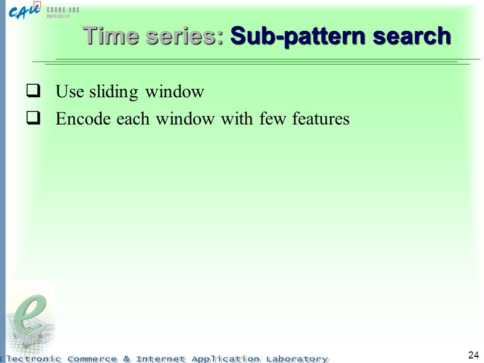Time series: Sub-pattern search