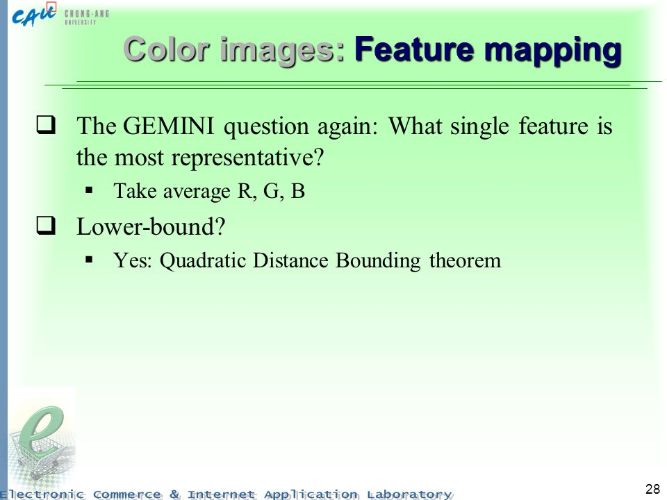 Color images: Feature mapping
