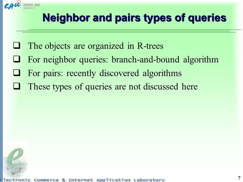 Neighbor and pairs types of queries