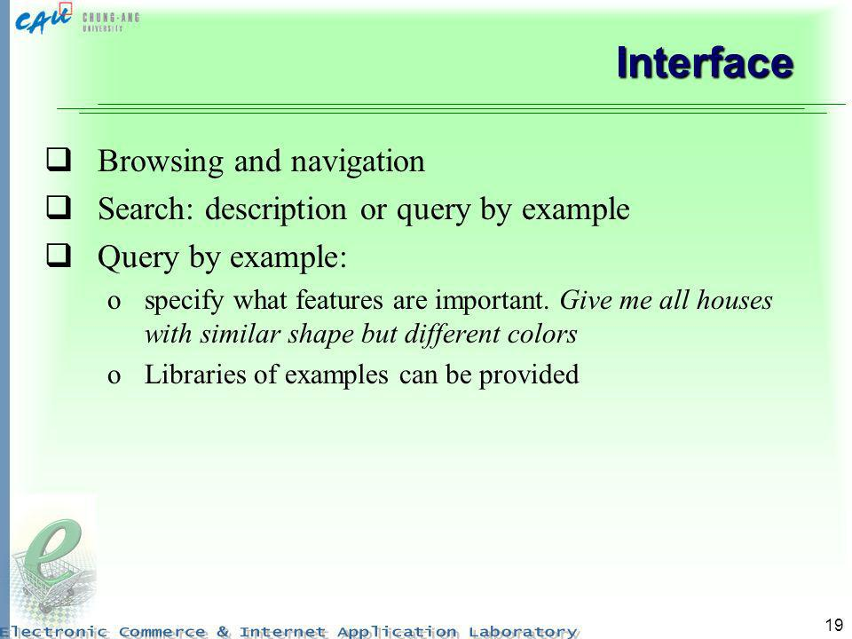 Interface Browsing and navigation