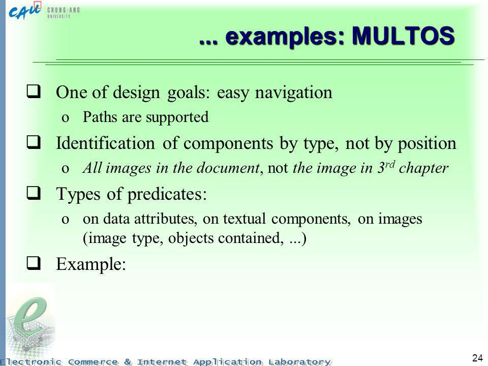 ... examples: MULTOS One of design goals: easy navigation