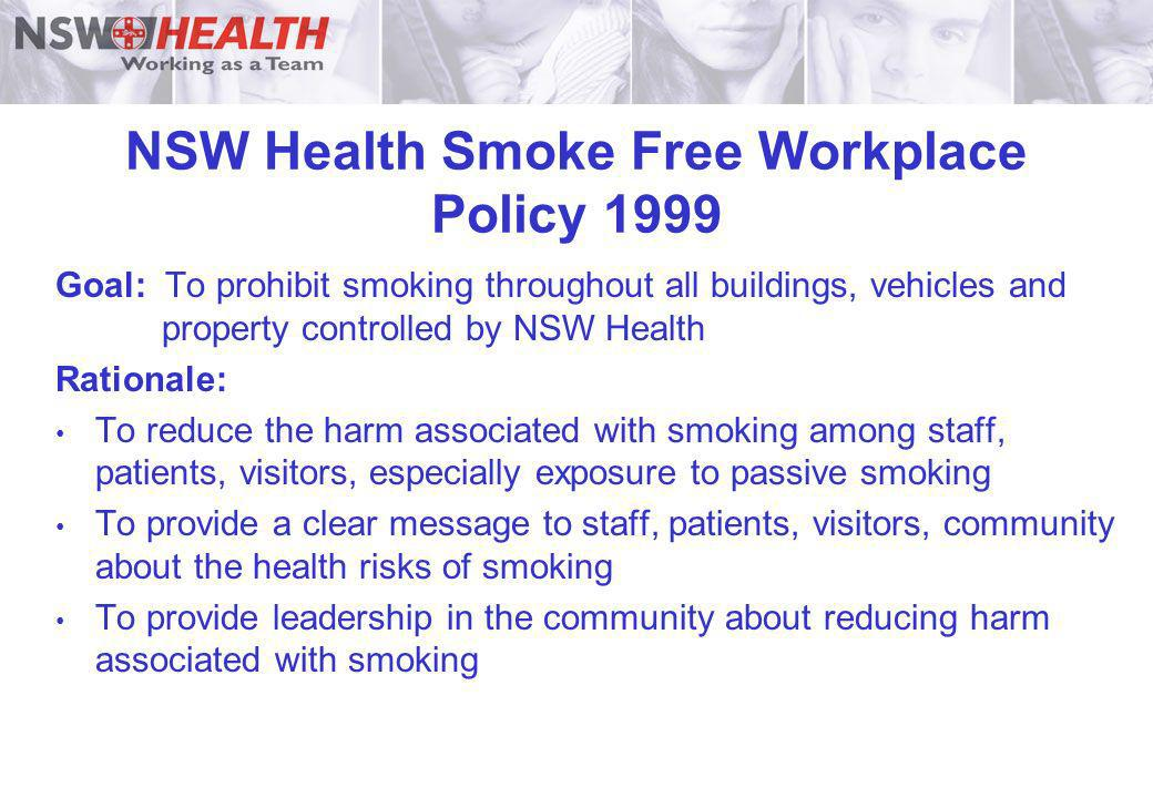 NSW Health Smoke Free Workplace Policy 1999
