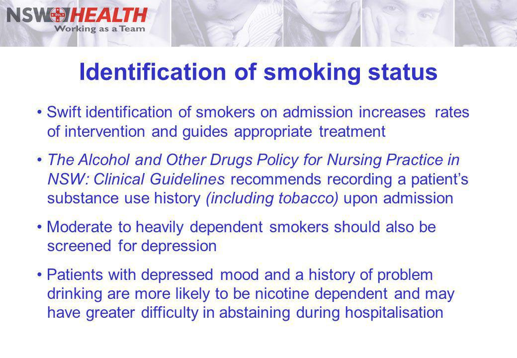 Identification of smoking status