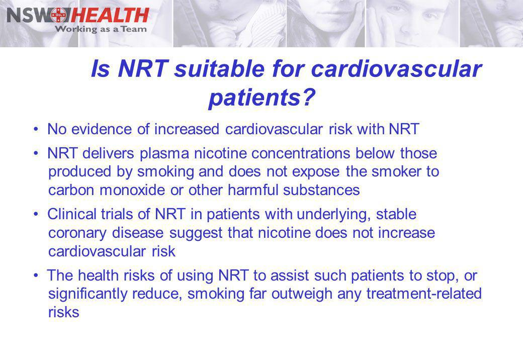 Is NRT suitable for cardiovascular patients