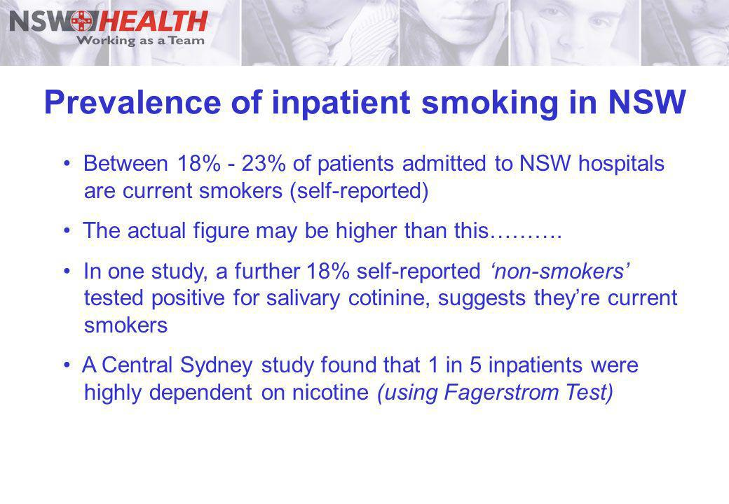 Prevalence of inpatient smoking in NSW