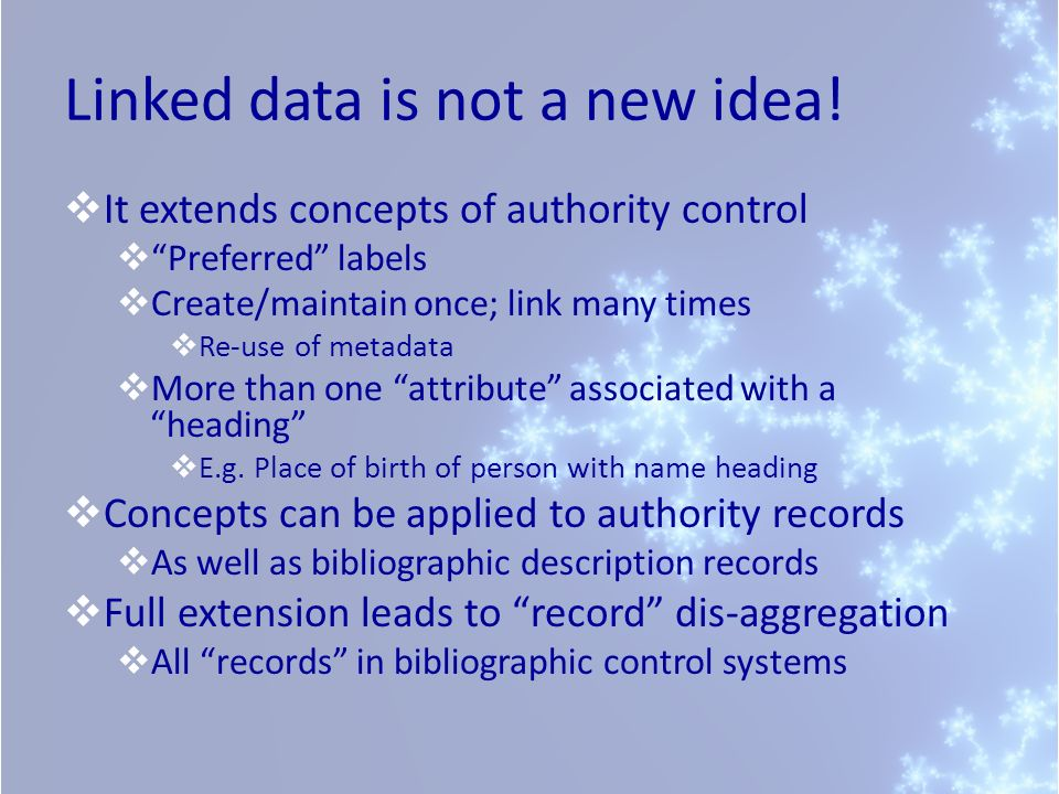 Linked data is not a new idea!