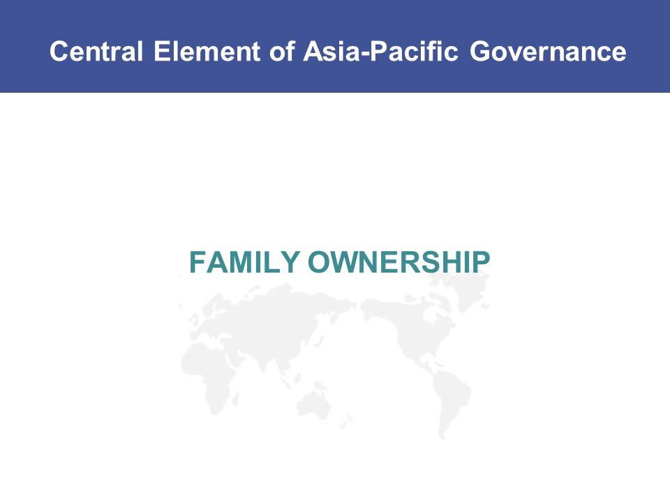 Central Element of Asia-Pacific Governance