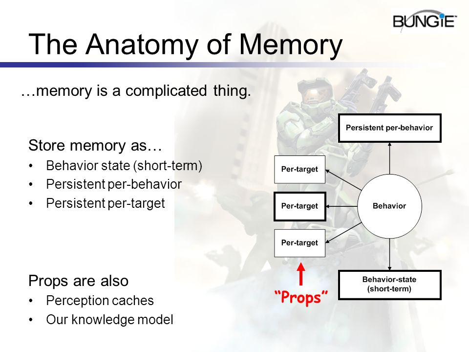 The Anatomy of Memory …memory is a complicated thing. Store memory as…