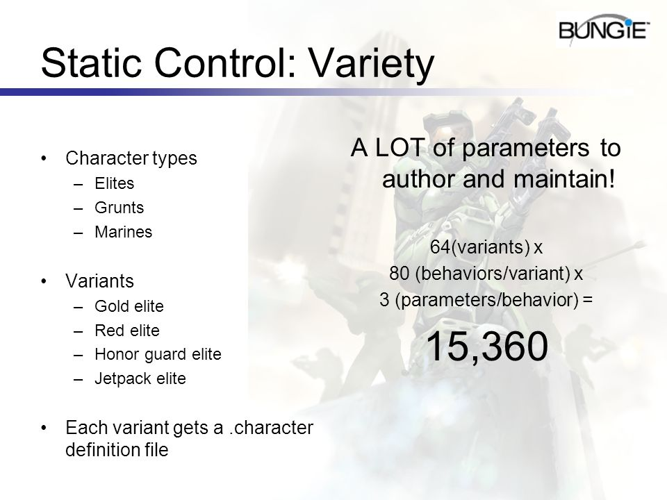 Static Control: Variety