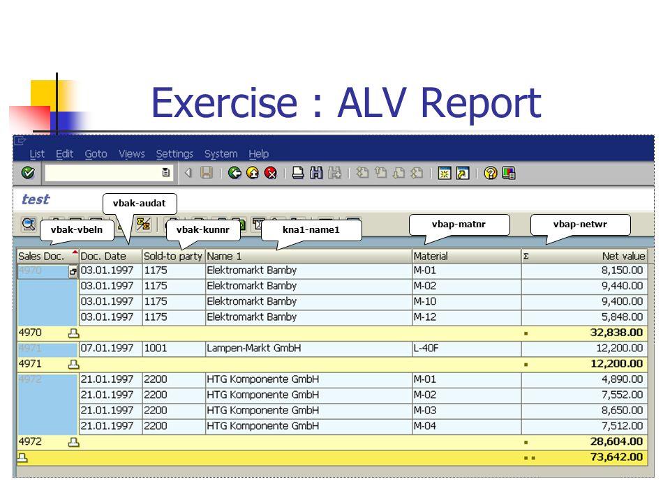 Control Break Report ALV Report - ppt video online download