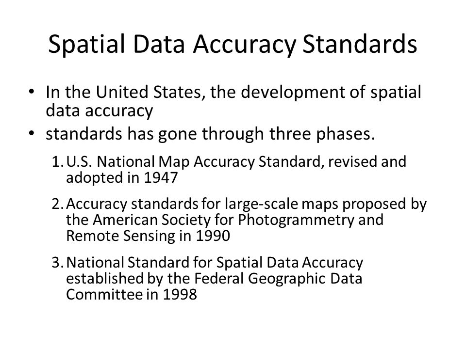 united states national map accuracy standards Applied Cartography and Introduction to GIS GEOG 2017 EL   ppt
