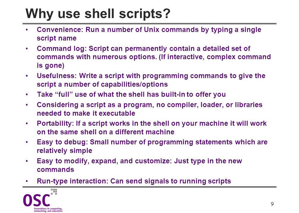 Korn Shell Script Writing & HPC - ppt download