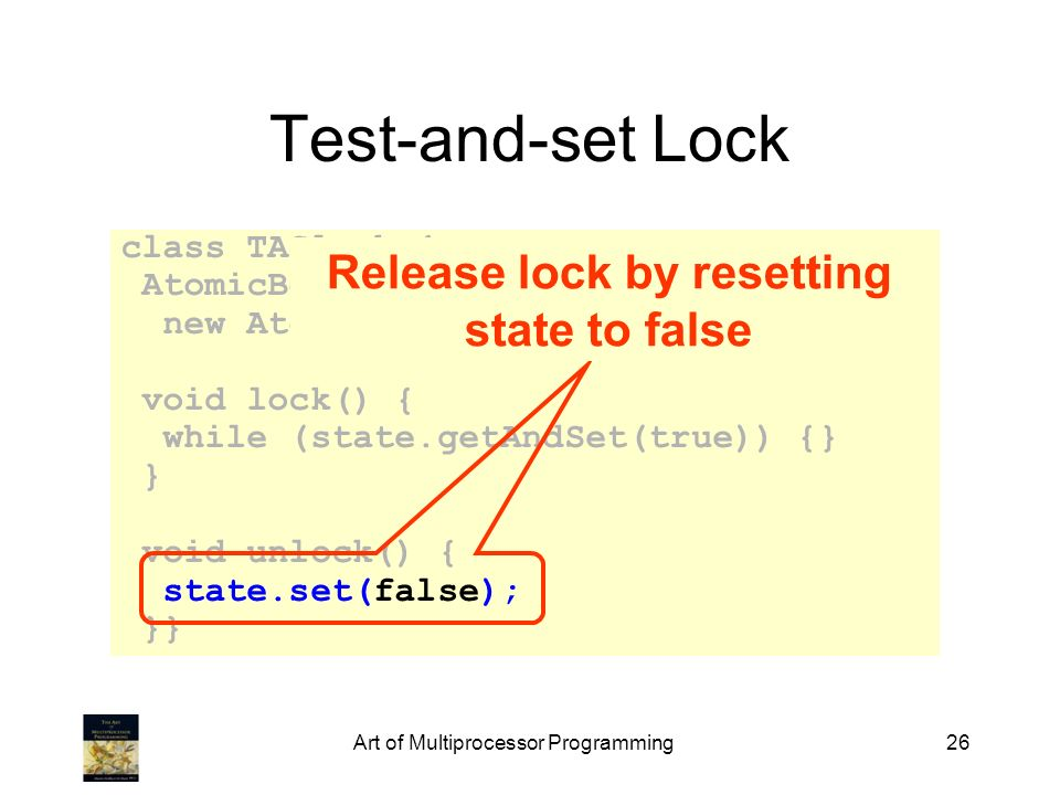 Release lock by resetting state to false