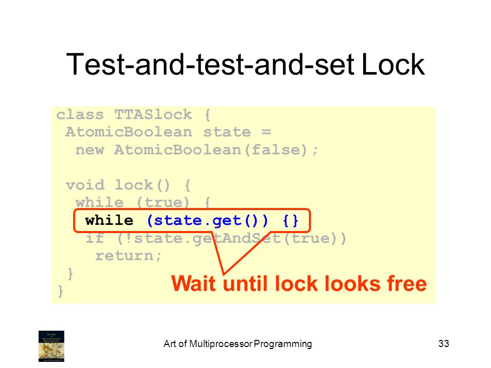 Test-and-test-and-set Lock